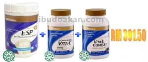 esp vitamin c vitamin e set kecantikan shaklee