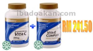 vitamin c vitamin e set kecantikan shaklee