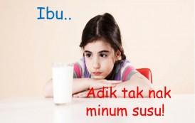 Bila anak tidak suka susu formula