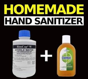 diy hand sanitiser